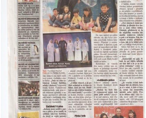 Matěj Kodeš v novinách