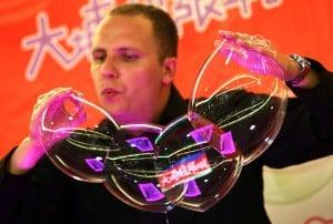 Bublinář v Číně