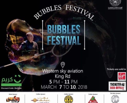 Bubble Festival Jeddah with bubble master Matěj Kodeš