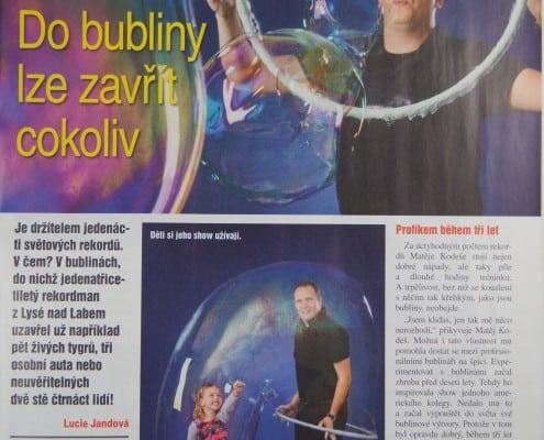 bublinář v časopisu