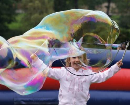 interakce s diváky po bublinové show
