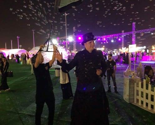 bubbleshow v Saudské Arábii